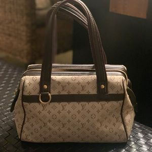Louis Vuitton Josephine Mini Lin Pm Canvas Satchel
